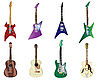 Vector clipart: color guitars