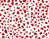 Vector clipart: seamless background of red hearts