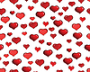 Seamless background of red hearts | Stock Vector Graphics