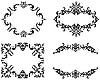 Vektor Cliparts: Abstract floral Rahmen Hintergründe im viktorianischen Stil Set