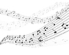 Vector clipart: musical stuff background