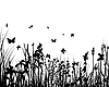 Vector clipart: grass silhouettes