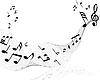 Vector clipart: background of music notes