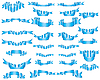 Vector clipart: set of blue ribbons