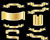 Vector clipart: collection of ribbons