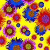 Vektor Cliparts: nahtlose Hintergrund Blume