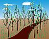Vector clipart: spring landscape