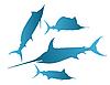 Vector clipart: marlin, sailfish