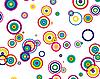 Vektor Cliparts: Hintergrund von Kreisen