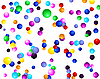 Векторный клипарт: красочные шоколадные шарики