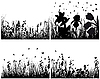 Vector clipart: set of grass silhouettes