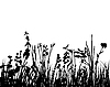 Vector clipart: meadow silhouettes