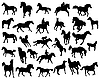 Horses silhouettes | Stock Vector Graphics
