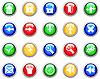 Векторный клипарт: Набор значков готические