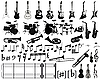 Vector clipart: musical elements