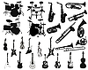Vector clipart: set of musical instruments