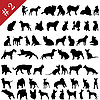 Vector clipart: pets silhouettes