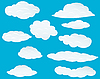 Vector clipart: set of clouds