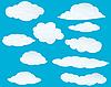 Векторный клипарт: набор облака
