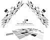 Векторный клипарт: черно-белый мозаичный фон