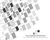 Векторный клипарт: черно-белый мозайчный фон