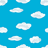 Vector clipart: seamless clouds pattern