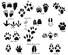 Vector clipart: animal trails with title