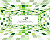 Vector clipart: green checkered background