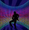 Векторный клипарт: Ночной клуб танцовщицей