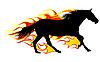 Pferd mit Flamme