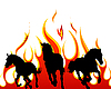 Horses in flame | Stock Vector Graphics