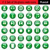 Векторный клипарт: Набор иконок 1 музыка