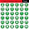 Векторный клипарт: Набор иконок 4 путешествия