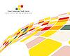 Vector clipart: multicolor checkered background