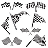 Vector clipart: set of racing flags