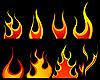 Vektor Cliparts: Feuer Muster eingestellt