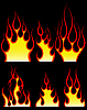 Fire patterns set | Stock Vector Graphics