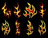 Vektor Cliparts: Feuer-Set