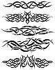 Vektor Cliparts: Tattoos Set