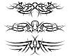 Vektor Cliparts: Set von tribalen Tattoos