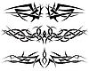 Vektor Cliparts: Tribal Tattoo Set