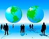 Vektor Cliparts: weltweite Geschäft