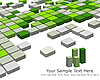 Vector clipart: 3d checkered background