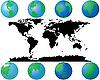 Vektor Cliparts: Erde-Globen und Welt-Karte
