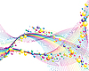 Vektor Cliparts: farbige Linien