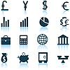 Векторный клипарт: финансовые набор иконок