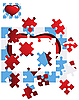 Vector clipart: heart puzzle