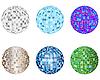 Vector clipart: disco spheres set