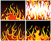 ID 3158423 | Fire backgrounds set | Stock Vector Graphics | CLIPARTO