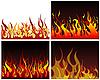 Vector clipart: fire backgrounds set